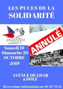 ANNULATION Puces solidaires du Secours Populaire du Jura