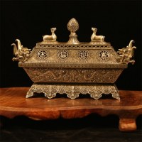 Décoration d'encensoir en cuivre blanc