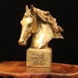 Décoration de portrait de cheval en laiton