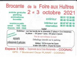 BROCANTE DE LA FOIRE AUX HUITRES