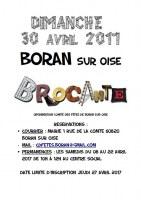 Brocante de Printemps le 30 avril 2017 Boran sur Oise