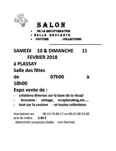 SALON de la RECUP'CREATION - brocante, couture, collections