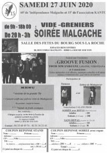 VIDE GRENIERS ET SOIRÉE MALGACHE