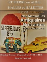 Marché mensuel d'Antiquités-Brocante de St PIERRE en AUGE(14)