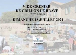 28ème vide-greniers de Crillon le Brave