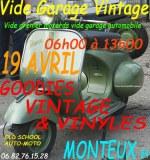 AUTO MOTO Vide garage le 19 avril à Monteux 84
